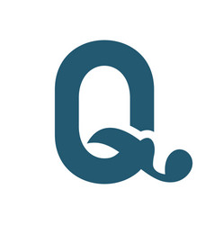 sign of the letter q vector image