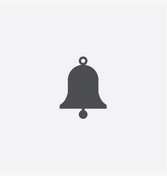 simple bell icon vector image
