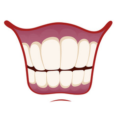 smile icon happy image mouth with healthy vector image