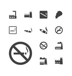 Smoke icons vector