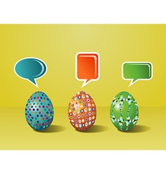 Social media Easter interaction vector image