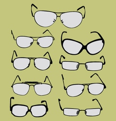 Spectacle glasses and sunglasses vector