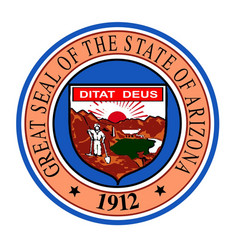 State seal of arizona vector