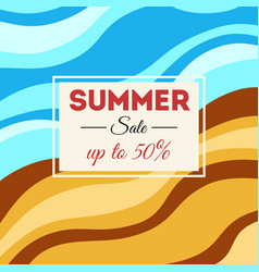 summer sale background with wavy stripes vector image