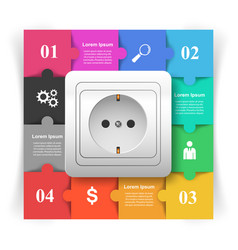 switch icon abstract business infographic vector image