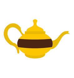 Teapot icon isolated vector