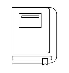 Textbook school learn image line vector