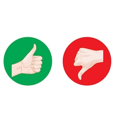 Thumb up thumb down round icons vector