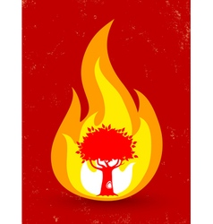Tree fire vector