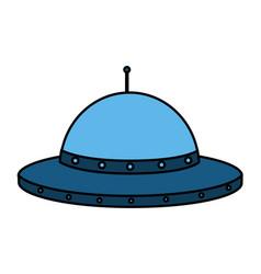 Ufo space ship vector