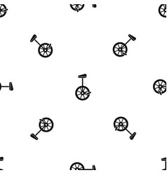 Unicycle pattern seamless black vector