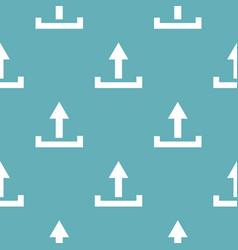 upload pattern seamless blue vector image