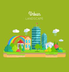 Urban landscape concept in flat design vector