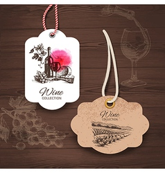 Vintage wine labels vector image