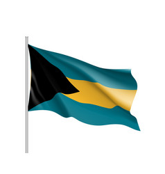 Waving flag bahamas vector