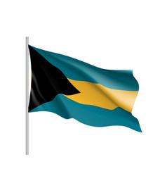 waving flag of bahamas vector image