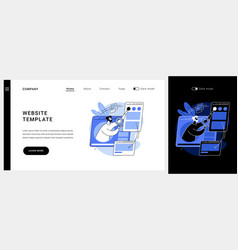 website template concept landing page vector image