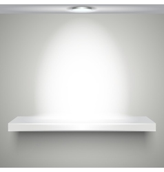 white shelve with illumination vector image