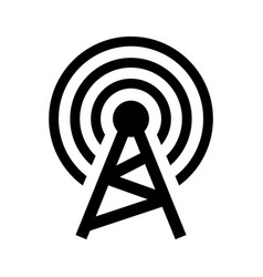 wireless tower vector image