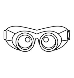 Work protect glasses icon outline style vector