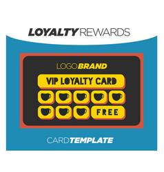 yellow bonus rewards card program vector image