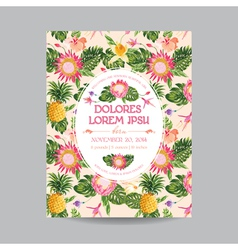 Baby Arrival or Shower Card in Floral Design vector image vector image