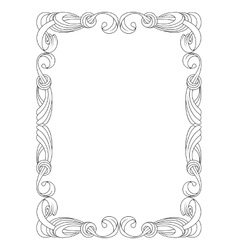 black ribbon frame isolated on white vector image vector image