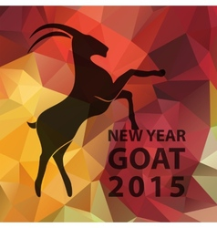Chinese New Year 2015 goat with golden geometric vector image