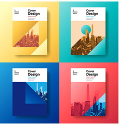 cover book designfuture business template vector image