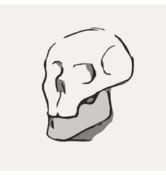 Hand Drawn cartoon Skull vector image