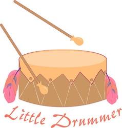 Little Drummer vector image