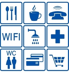 set of road icons vector image vector image