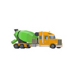 concrete mixing truck flat design vector image