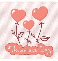 Heart flowers background vector
