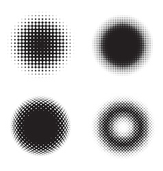 Halftone circles vector image vector image