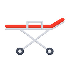 stretcher medical icon vector image vector image