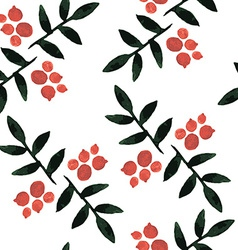 watercolor seamless pattern ashberry vector image