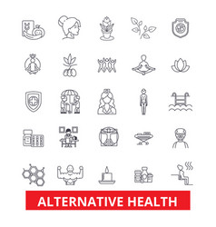 alternative health healing medicine acupuncture vector image