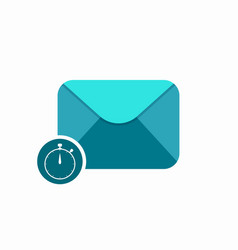 email envelope sent stopwatch timer icon vector image vector image