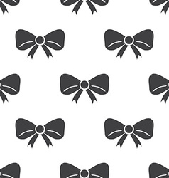 festive bow seamless pattern vector image vector image