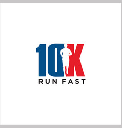 10k run logo design stock symbol running vector