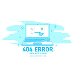 404 error with icon notebook error vector