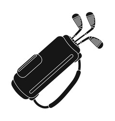 A bag with golf clubsgolf club single icon in vector