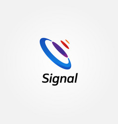 Abstract colorful signal logo sign symbol icon vector