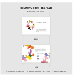 Abstract Creative Business Cards Design Template vector