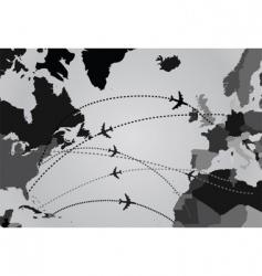 air flights map vector image