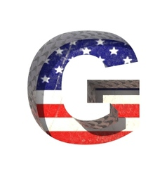 American cutted figure g Paste to any background vector