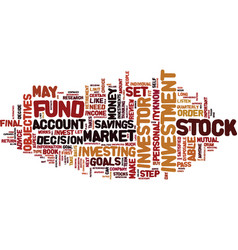 Are you a stock investor text background word vector