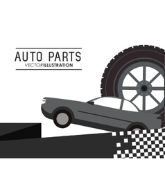 Auto parts repair icon vector