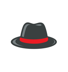 black fedora hat vector image